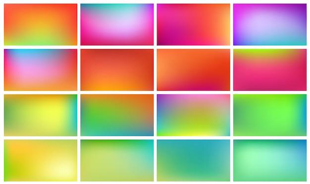 Conjunto de planos de fundo coloridos.