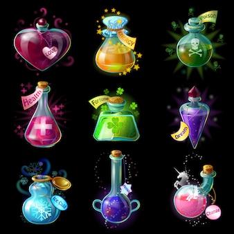 Conjunto de poções mágicas