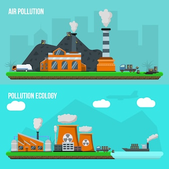 Conjunto de poluição ambiental
