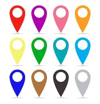 Conjunto de ponteiros de mapa de papel