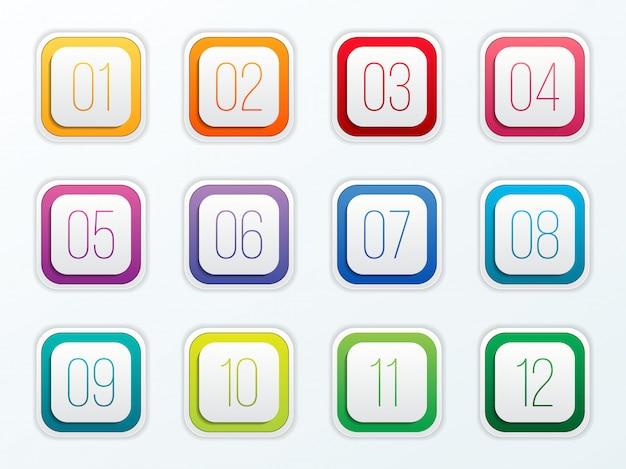 Conjunto de pontos de bala de número