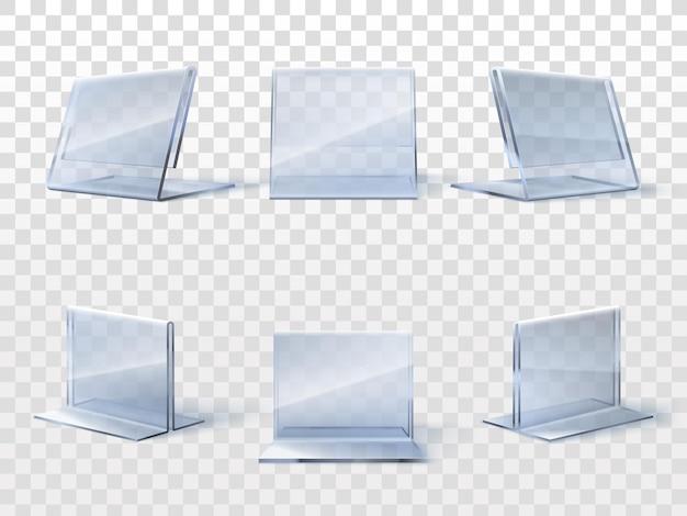 Conjunto de porta-cartas de mesa