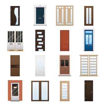 Conjunto de portas de casa