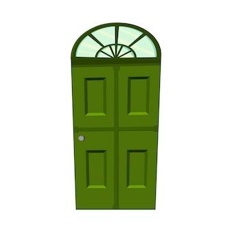 Conjunto de portas em um fundo branco para construção e design. estilo de desenho animado. ilustração vetorial.