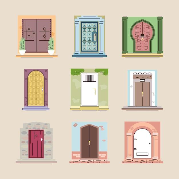 Conjunto de portas