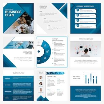 Conjunto de postagens de mídia social de modelo de apresentação de negócios profissional Vetor grátis