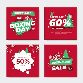 Conjunto de postagens do instagram para venda de boxing day