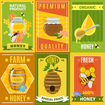 Conjunto de poster de mel
