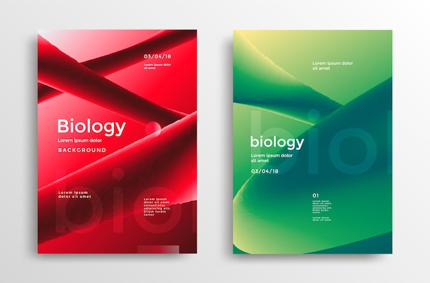 Conjunto de pôsteres modernos de biologia