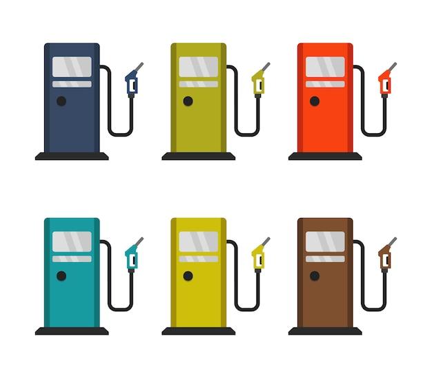 Conjunto de posto de gasolina