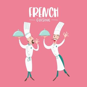 Conjunto de pratos da tradicional culinária francesa