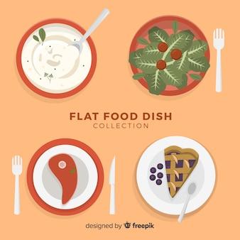 Conjunto de pratos de comida