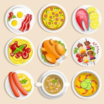 Conjunto de pratos principais