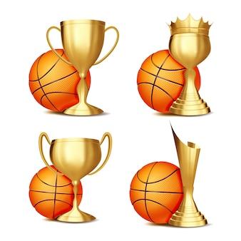 Conjunto de prêmios de jogo de basquete
