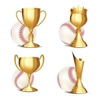 Conjunto de prêmios de jogo de beisebol