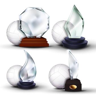 Conjunto de prêmios de jogo de vôlei