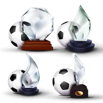 Conjunto de prêmios de jogos de futebol