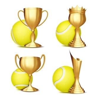 Conjunto de prêmios de jogos de tênis