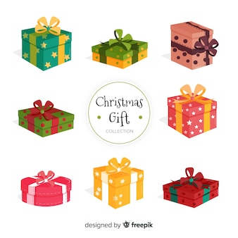 Conjunto de presente de natal