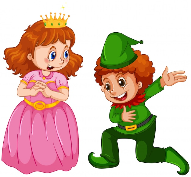 Conjunto de príncipe e princesa custome