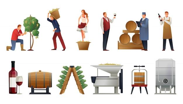 Conjunto de produção de vinho