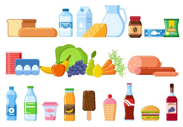 Conjunto de produtos alimentícios