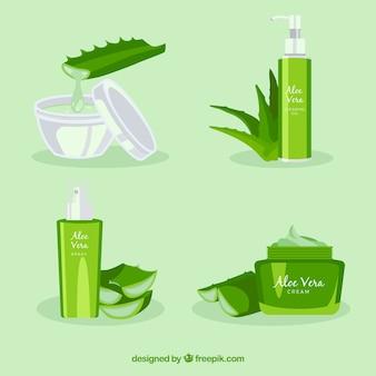 Conjunto de produtos cosméticos com aloe vera