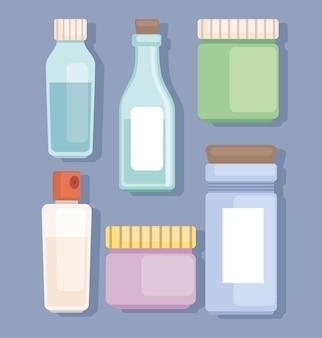 Conjunto de produtos cosméticos