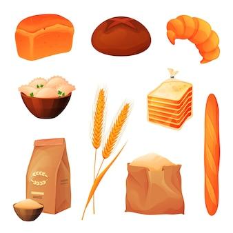 Conjunto de produtos de trigo