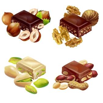 Conjunto de produtos doces coloridos