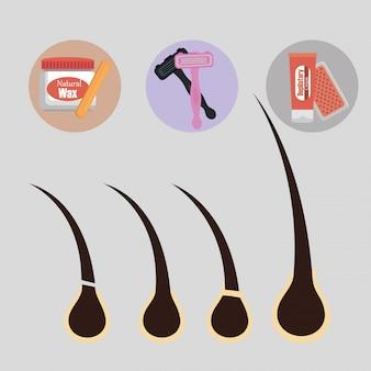 Conjunto de produtos para depilação