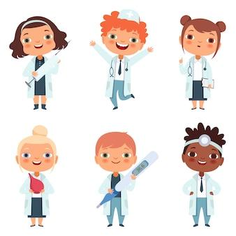 Conjunto de profissão de médico