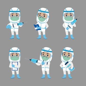 Conjunto de profissões de pessoas conjunto de personagens construtores em diferentes poses