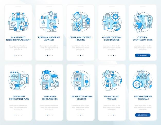 Conjunto de programas de treinamento de trabalho de integração de telas de páginas de aplicativos para dispositivos móveis