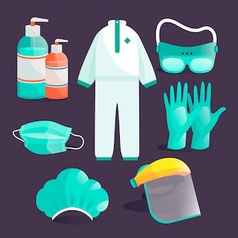 Conjunto de proteção de equipamentos de vírus