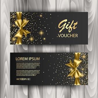 Conjunto de publicidade ou venda de modelo de cartão de vale-presente