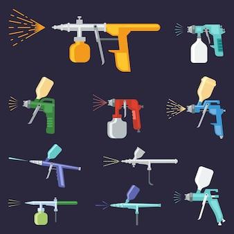 Conjunto de pulverizadores de tinta