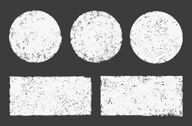 Conjunto de quadro abstrato antigo grunge