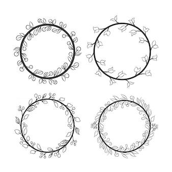 Conjunto de quadro de grinalda de círculo