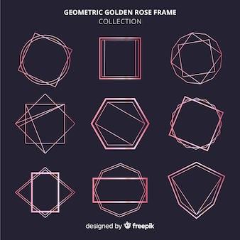 Conjunto de quadro de ouro rosa