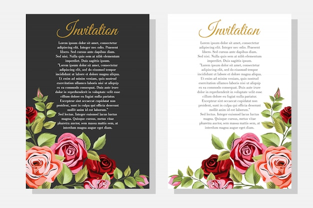 Conjunto de quadro decorativo com ornamento floral e folhas