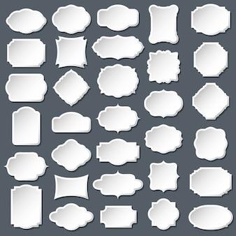 Conjunto de quadro e rótulo em branco