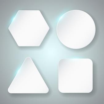 Conjunto de quadro em branco. formas geométricas