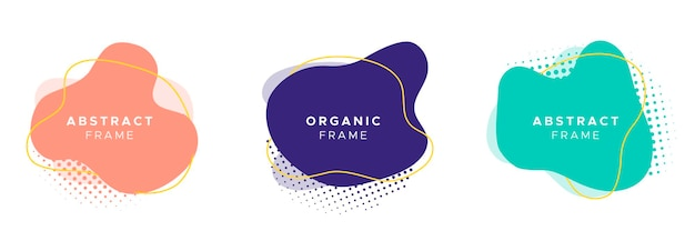 Conjunto de quadro orgânico abstrato