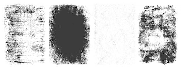 Conjunto de quadros abstratos grunge retrô