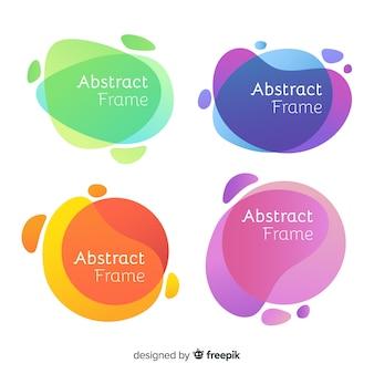 Conjunto de quadros abstratos