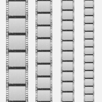Conjunto de quadros de contagem regressiva de um filme clássico