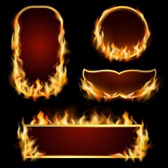 Conjunto de quadros de fogo