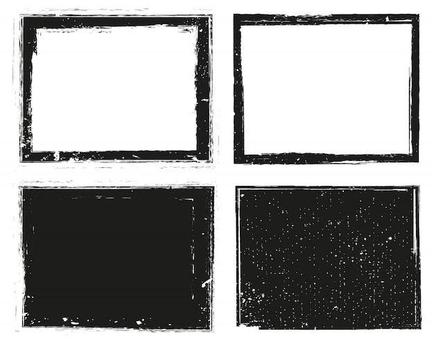 Conjunto de quadros de grunge