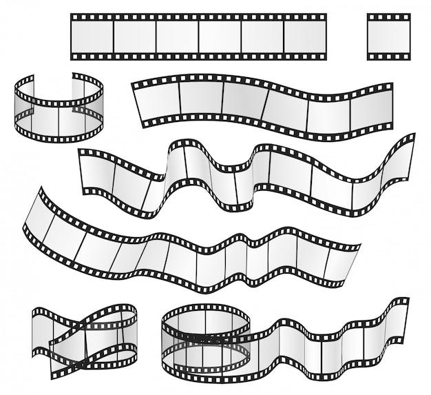 Conjunto de quadros de tiras de filme